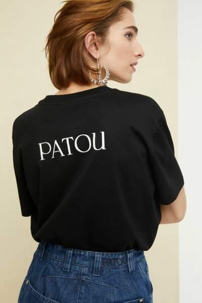#PatouSeul en coton bio noir, coupe mixte, 130€, Patou