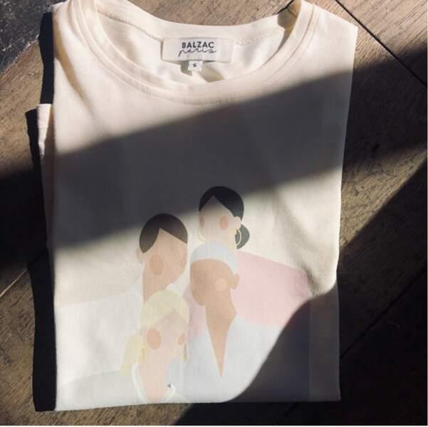 T-shirt en coton biologique, 33€, Balzac Paris en co-création avec ses clientes, www.balzac-paris.fr