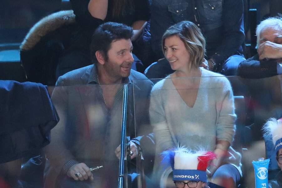 Philippe Lellouche et sa compagne Vanessa Boisjean lors du match de finale du mondial de handball.