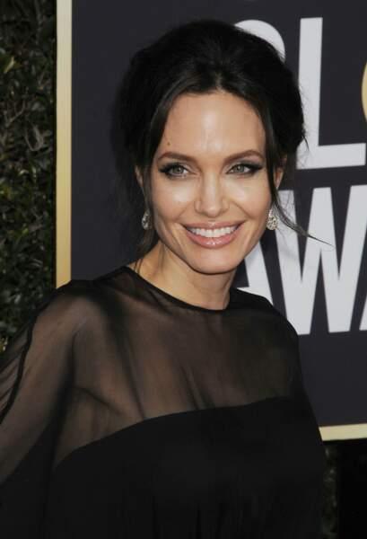 Angelina Jolie radieuse le 7 janvier 2018.
