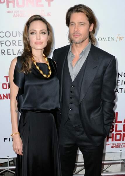 Angelina Jolie et Brad Pitt en 2011