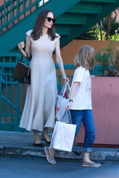 Angelina Jolie et sa fille Vivienne en mars 2020