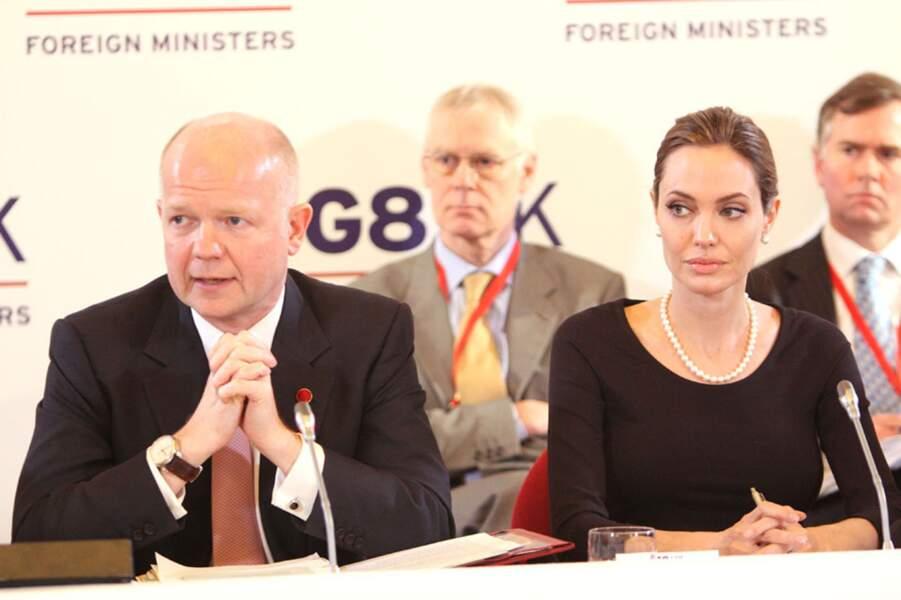 Angelina Jolie en 2013 au G8