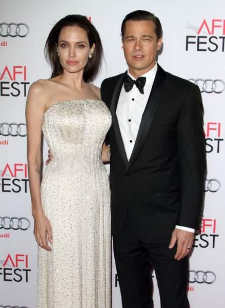 Angelina Jolie et Brad Pitt, ultra chic en 2015.