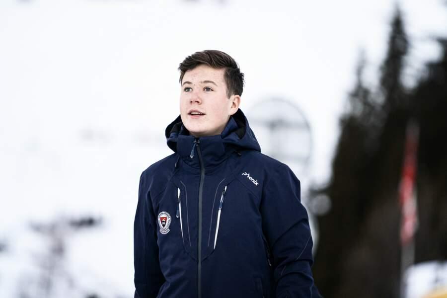 Le prince héritier Christian de Danemark, 14 ans, fils du prince héritier Frederik, et second dans l'ordre de succession au trône de Danemark