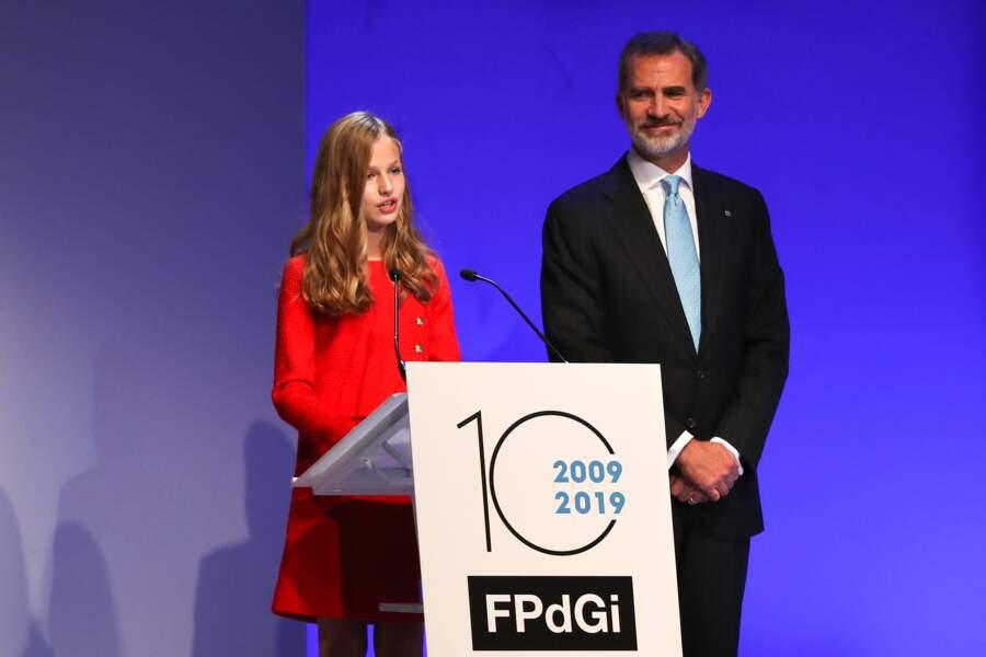 La princesse Leonor d'Espagne, à Barcelone le lundi 4 octobre 2019