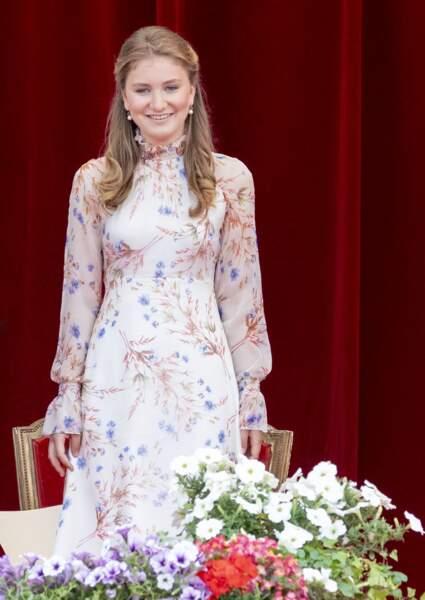 La princesse Elisabeth de Belgique à Bruxelles le 21 juillet 2019