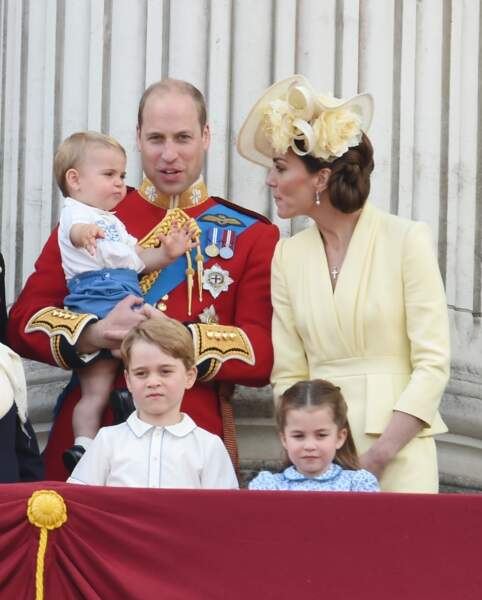 Le prince George en famille au balcon du palais de Buckingham, le 8 juin 2019