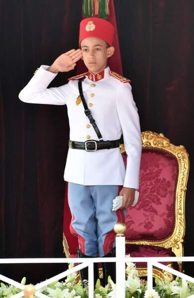 Le prince héritier Moulay El Hassan du Maroc à Rabat le 31 juillet 2015