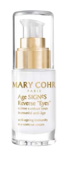 Crème Contour des Yeux Immunité Anti-âge, Age Signes Reverse Eyes, Mary Cohr, 96€