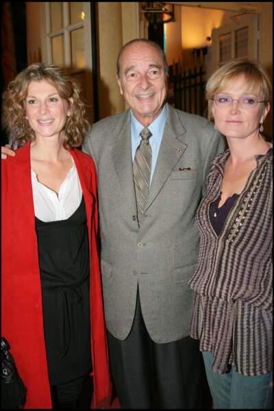 2007 : Michèle Laroque avec Jacques et Claude Chirac.