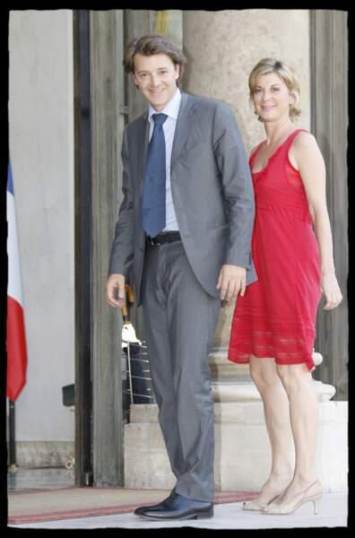 2008 : Michèle Laroque est en couple avec François Baroin depuis 2008, ici au palais de l'Elysée.