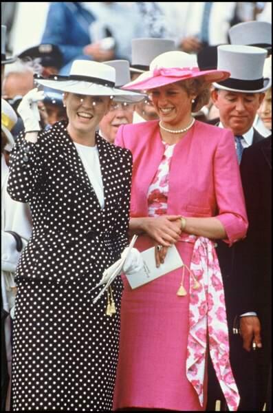 La princesse Diana et Sarah Ferguson à Ascot