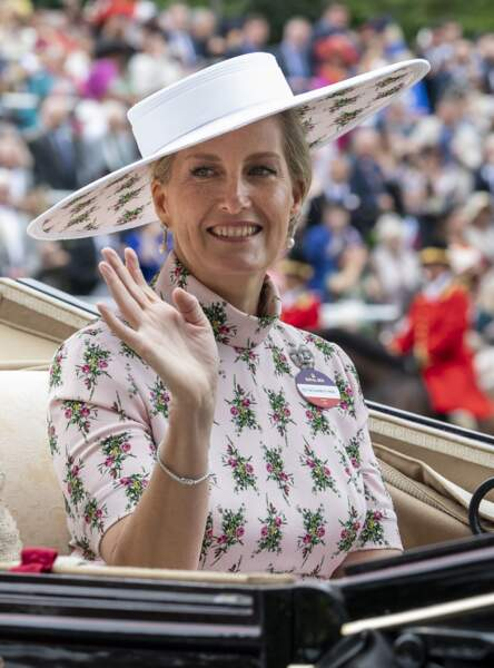 Sophie Rhys-Jones à Ascot, Royaume Uni, le 18 juin 2019.