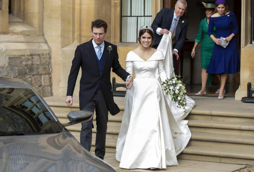 La princesse Eugénie et son mari Jack Brooksbank se sont unis le 12 octobre 2018. Ils ont par ailleurs fêté leurs dix ans d'amour le 24 avril 2020.