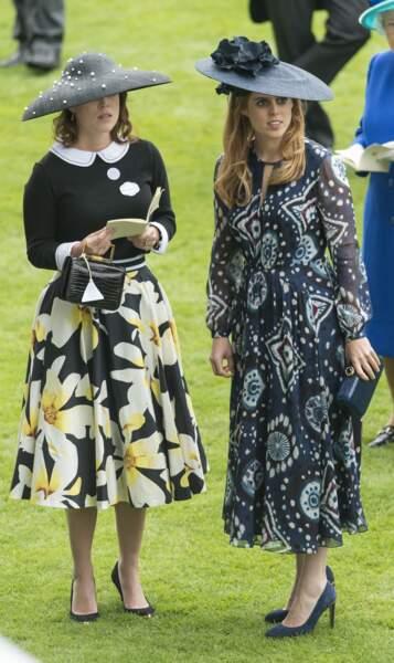 Eugenie d'York et la princesse Beatrice d'York le 18 juin 2016.