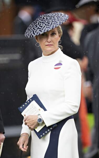 La comtesse Sophie de Wessex - La famille royale lors des courses d'Ascot 2019 le 19 juin 2019.