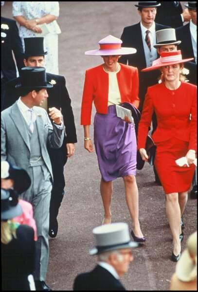 titre La princesse Diana à Ascot