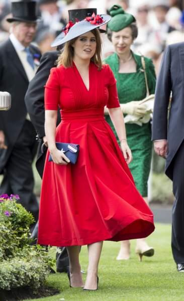 """La princesse Eugenie d'York lors de la 3ème journée des courses hippiques """"Royal Ascot"""", le 22 juin 2017"""