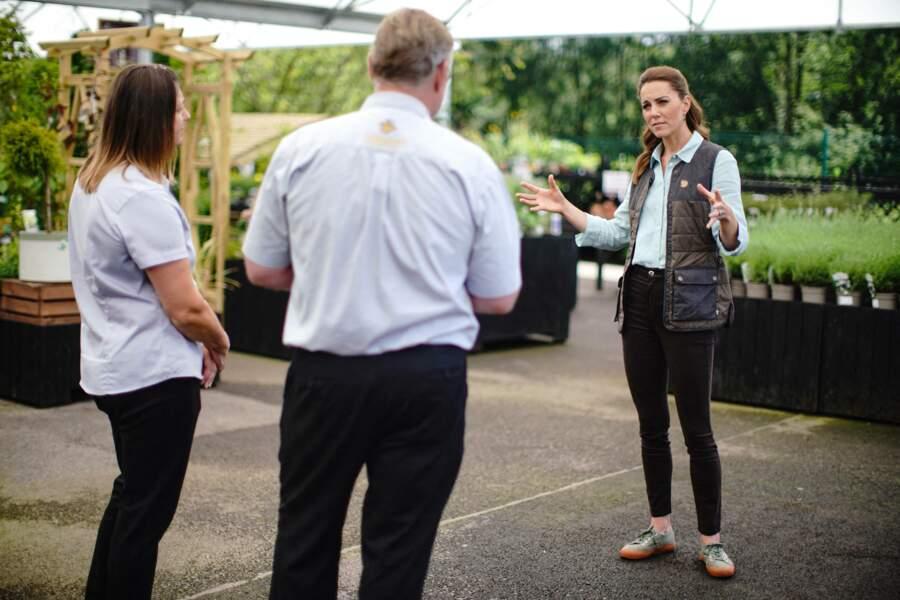 La duchesse de Cambridge en visite dans le Norfolk
