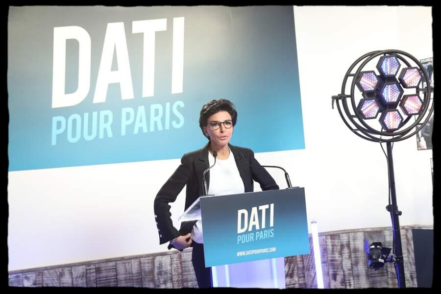 En mars 2020, Rachida Dati est tête de liste des Républicains aux élections municipales à Paris