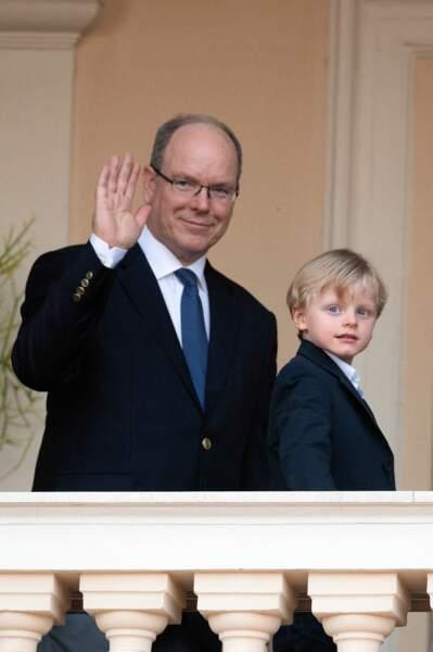 Le prince Albert et son fils Jacques, ce 23 juin 2020.
