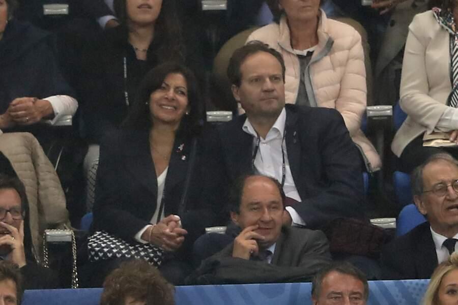 Anne Hidalgo et Jean-Marc Germain lors d'un match de l'Euro 2016