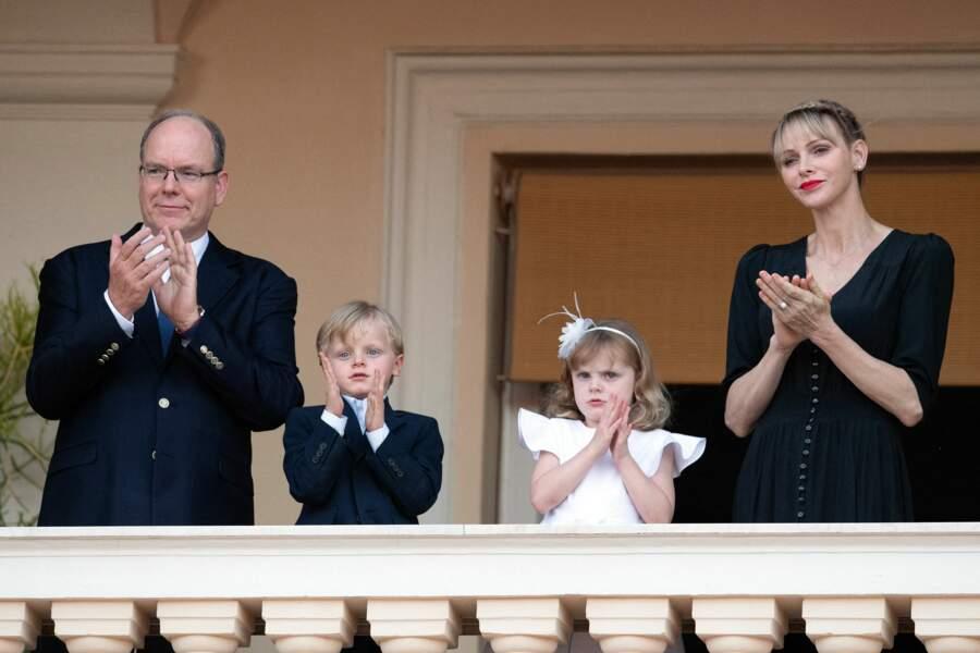 Gabriella et Jacques étaient présents avec leurs parents, Albert II de Monaco et la princesse Charlene, ce 23 juin 2020 pour la fête de la Saint-Jean, à Monaco.