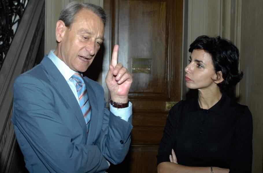 Rachida Dati (ici avec Bertrand Delanöe) est élue en mars 2008 maire du 7e arrondissement de Paris