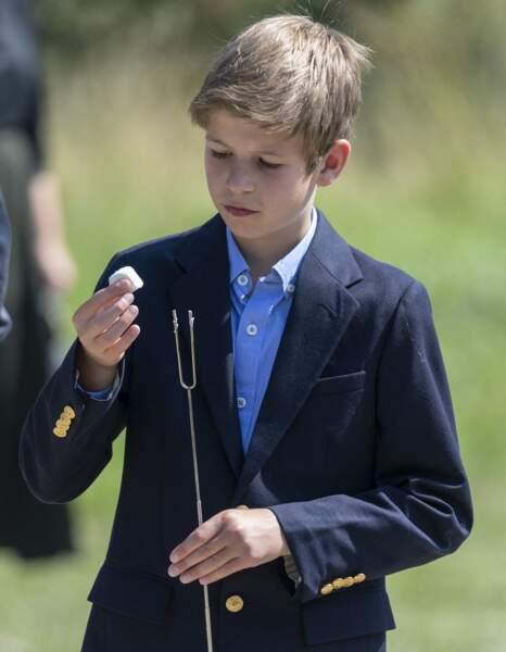 James Mountbatten-Windsor, le fils du prince Edward et de Sophie de Wessex en visite au zoo en 2019.