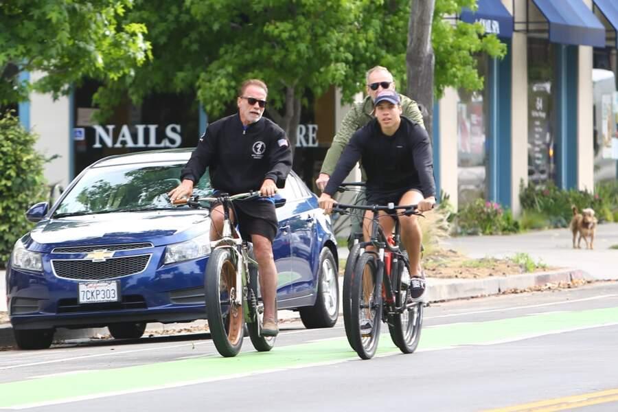 Arnold Schwarzenegger et son fils Joseph Baena