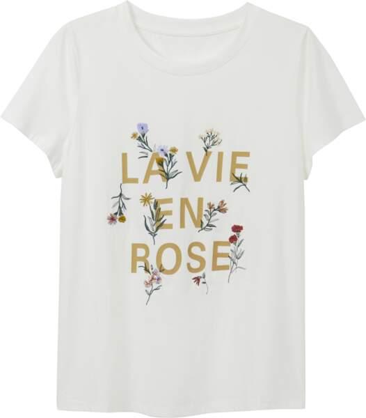 Tee-shirt, 9,99€, Monoprix.