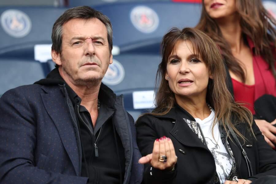 Jean-Luc Reichmann et Nathalie Lecoultre au Parc des Princes
