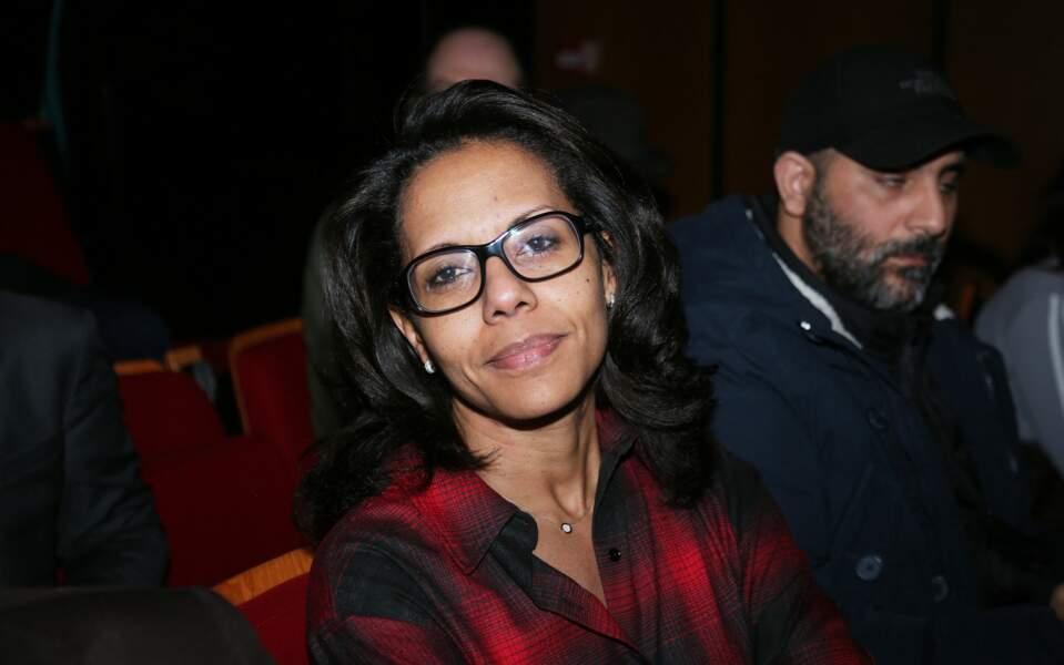 Audrey Pulvar, lors d'un meeting d'Anne Hidalgo, à l'Espace Reuilly à Paris, le 5 mars 2020.