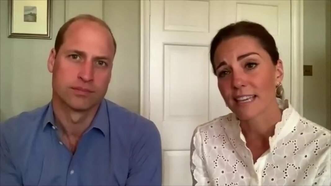 Kate Middleton et William, bronzés lors d'un appel visio le 6 juin