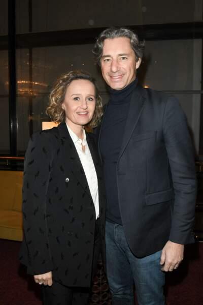Caroline Roux et Laurent Solly au théâtre Antoine à Paris le 27 février 2020