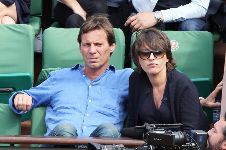 Pascal Humeau et Amandine Bégot lors du tournoi de tennis de Roland-Garros à Paris, le 28 mai 2015