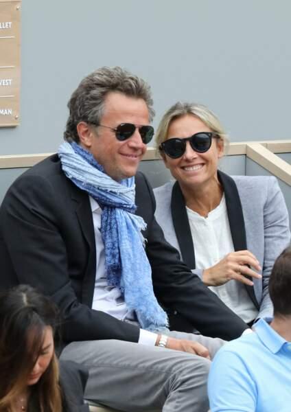 Anne-Sophie Lapix et Arthur Sadoun à Roland Garros à Paris, France, le 9 juin 2019