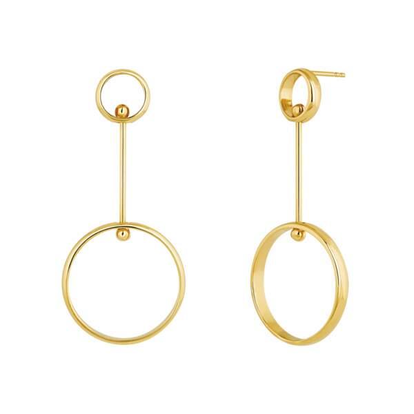 Boucles d'oreilles, 185 €, Aristocrazy.