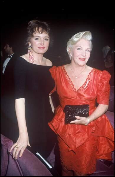 Claude Chirac et Line Renaud, au festival de Cannes en 1989.
