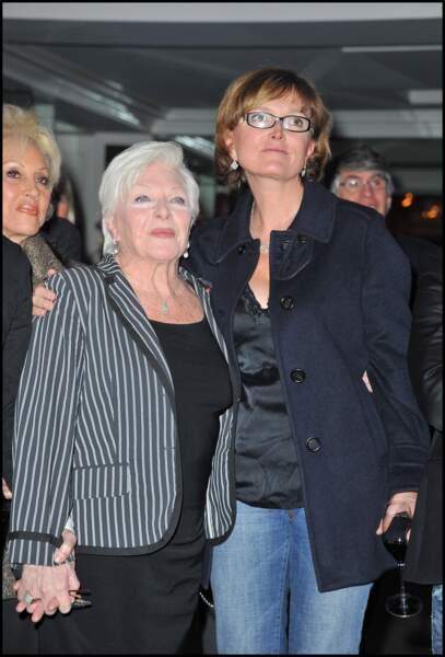 Line Renaud et Claude Chirac, en janvier 2011.