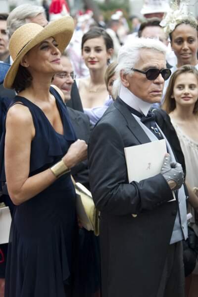 Inès de la Fressange et Karl Lagerfeld