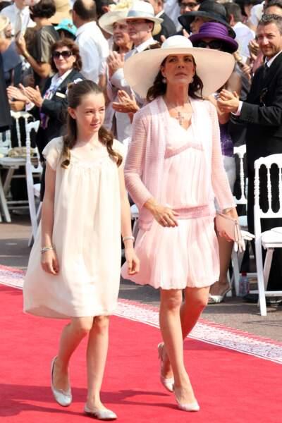 La princesse Caroline de Hanovre et sa fille la princesse Alexandra