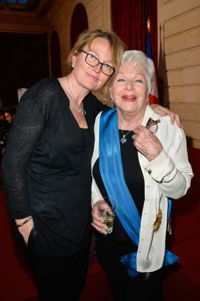 Claude Chirac et Line Renaud, au Palais de l'Elysée, le 23 mars 2017.