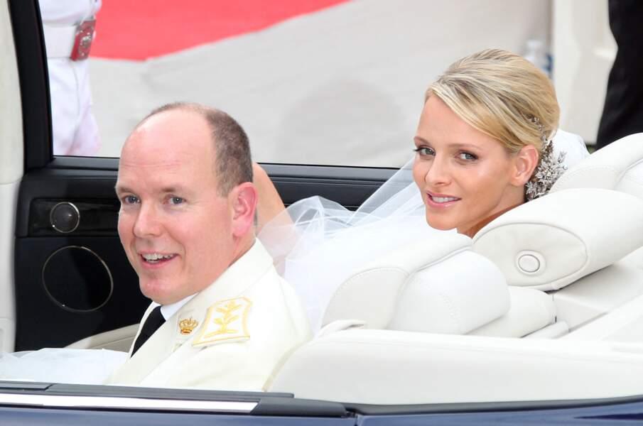 Le prince Albert et la princesse Charlene