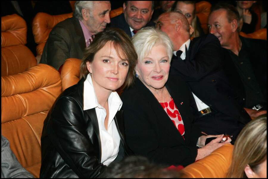 Claude Chirac et Line Renaud, au spectacle de Muriel Robin, au grand Rex, à Paris, en janvier 2005.