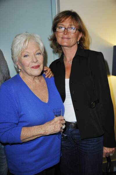 Line Renaud et Claude Chirac, après le concert de Serge Lama, en 2011.