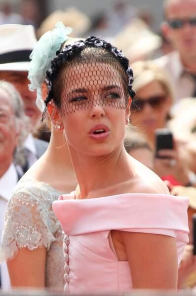 Charlotte Casiraghi, très élégante dans une robe rose Chanel