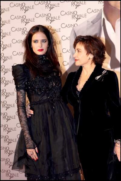 Eva Green et sa maman Marlène Jobert à la première de 007