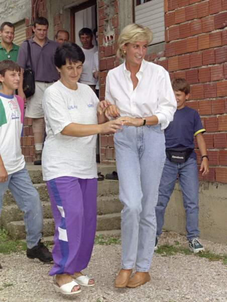 Lady Diana de passage en Bosnie-Herzégovine